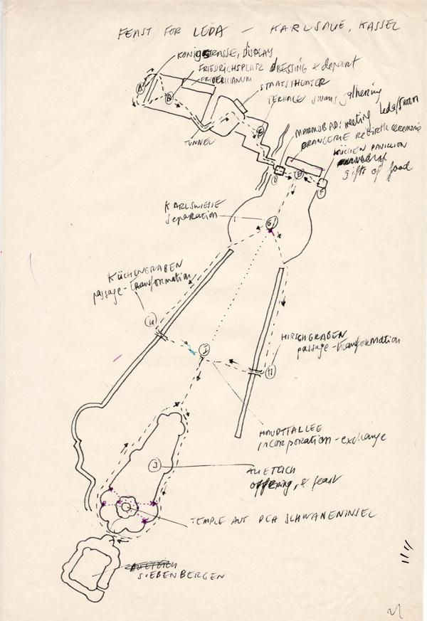 FEST FÜR LEDA - Dibujo del mapa itinerario